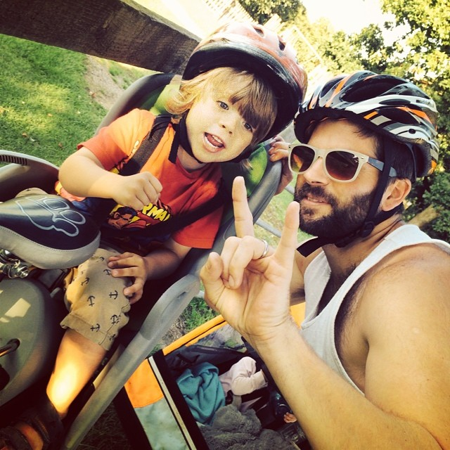 Cool dudes... #bike #toddlers #family