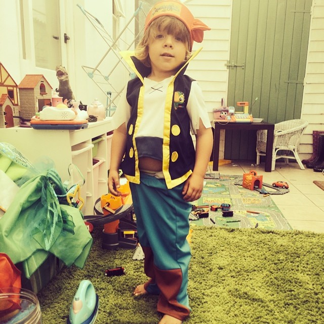 Noah loves dressing up! #jake #pirates #disney #dressup