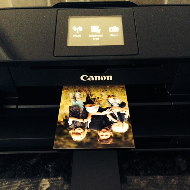 Adore my new #canon printer. It's amazing! #wifi #cloud #photoquality! #pixma