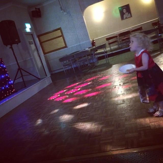 Isla was amazed at the disco lights tonight! She loved it. Eventually fell asleep at 11:30pm. I wonder if she will still be up at 6am x