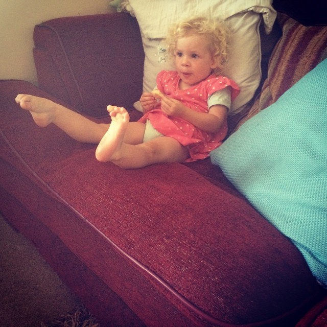 Someone had happy feet watching Tinkerbell! #crazytoe #daddysfeet
