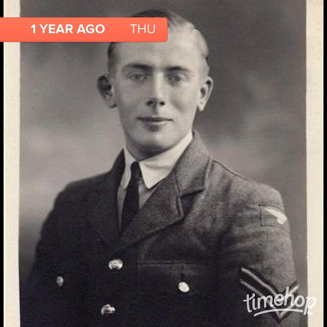Love this photo of grandad. So proud and very handsome x  #timehop