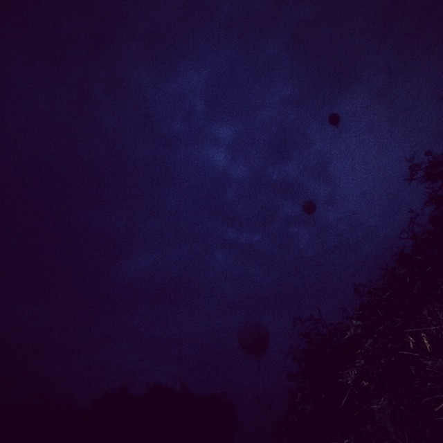 Off our balloons flew into the night sky... Grandad we love you xxxx