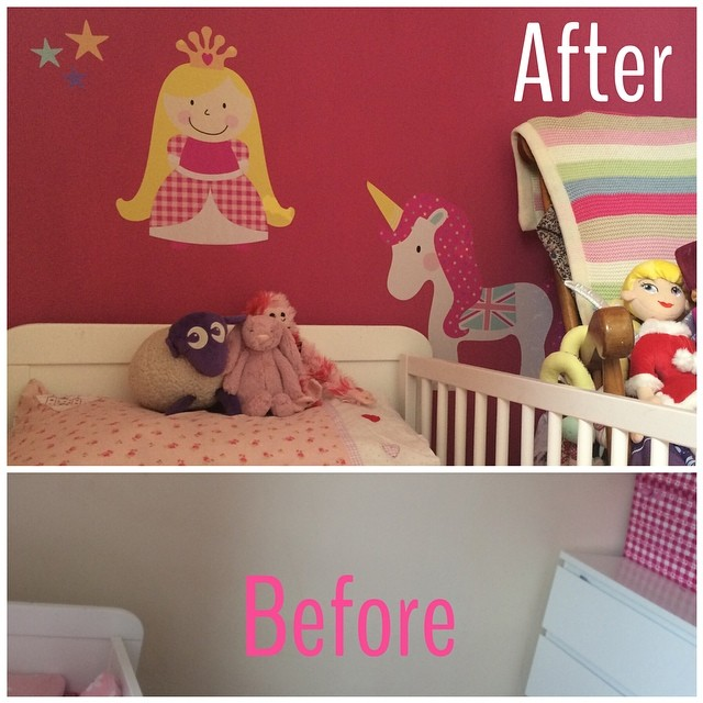 Busy day yesterday: #before and #after shots! #toddler #decorating #lifestyle #home