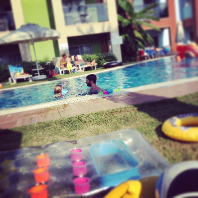 My current view... Bliss! #toddler #daddy #swimming #fun #holiday #turkey