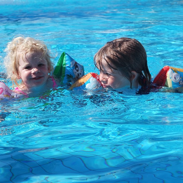 Love these two... Very muchos! #siblings #happy #fun #holiday #sun #swimming
