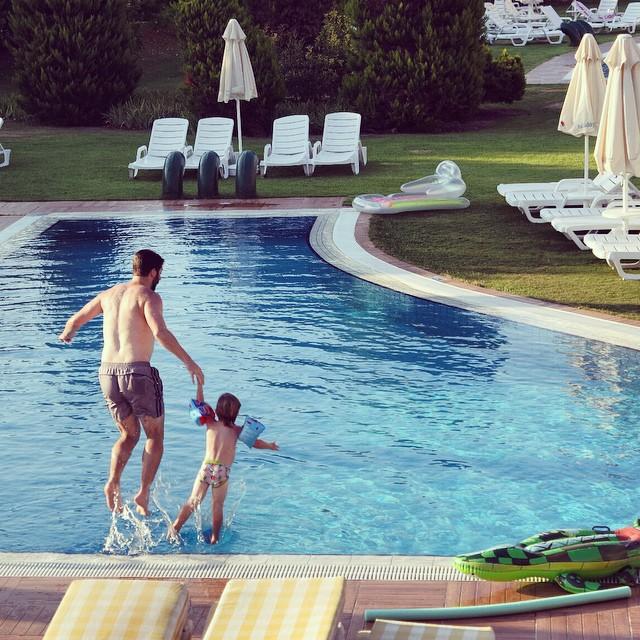 My boys having fun... #jump #splash #fun