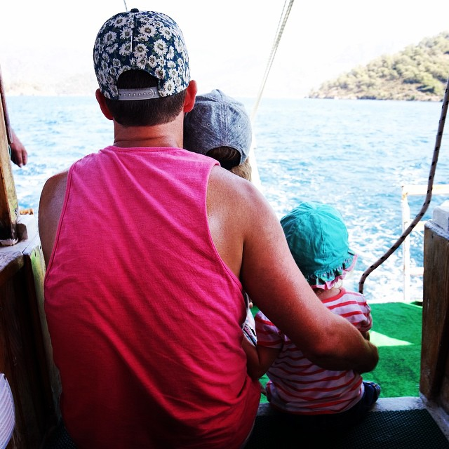 My family watching the fishermen #boattrip #sun #holiday #fun #family