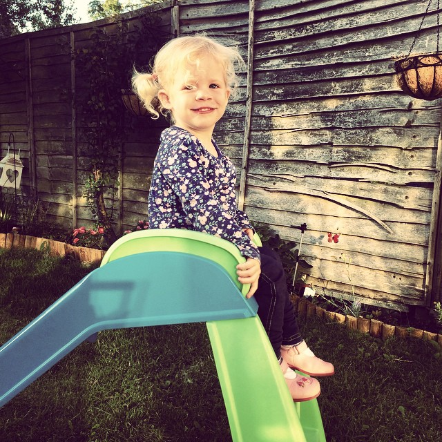 Love my beautiful bambino #toddler #garden #daughter #happy