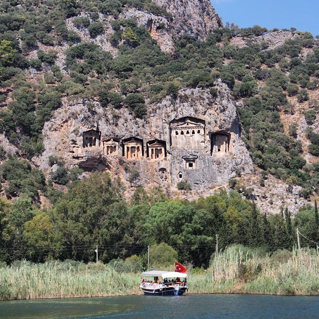 Then we saw the #tombs from #Kaunos! It was fascinating. #Turkey #history #kingtombs