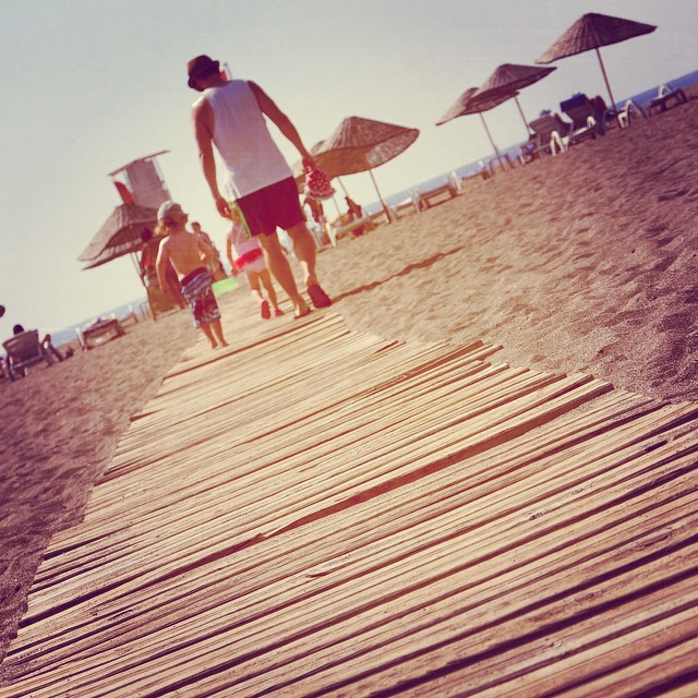 My little beach babes walking to the sea #holiday #sea #turkey