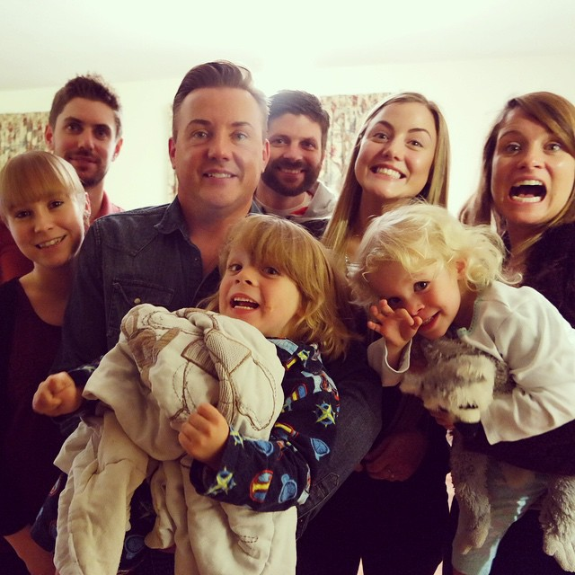 Cheese!!! Apparently I was doing hulk on my own. #family #silly #selfie