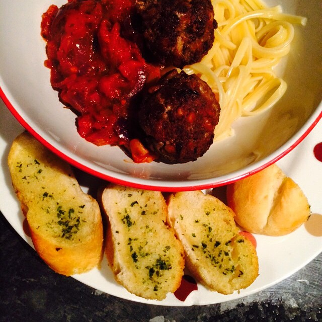 #spaghettiandmeatballs #nomnom dinner is served... @deanconstant xx