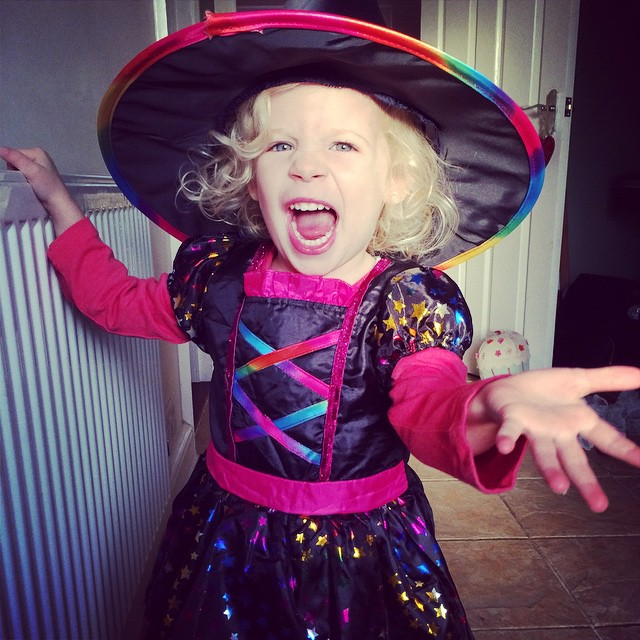 My beautiful little #witch... #Halloween #dressup #fun