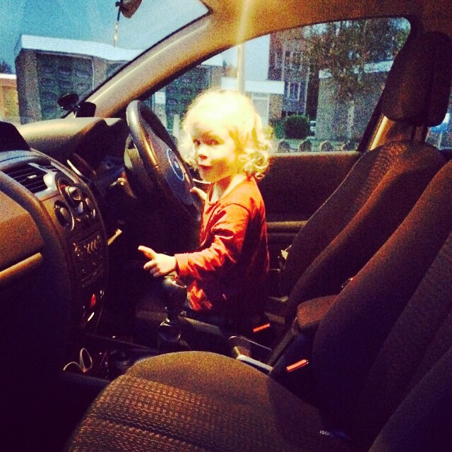 Oh heaven help us! #toddler #driving #biggirl #whatwillidowhenshecandrive