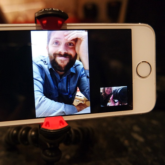 Daddy's working late tonight so this is the best we can get for now... #facetime #video #daddy #sayinggoodnight