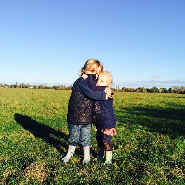 Love these two very much... #nofilter #walk #autumn #dogwalk #saturdayafternoon #toddlers #love #family #outdoorfun #countrykids