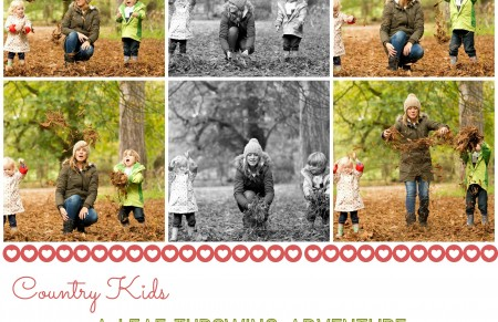 #CountryKids: a leaf throwing adventure