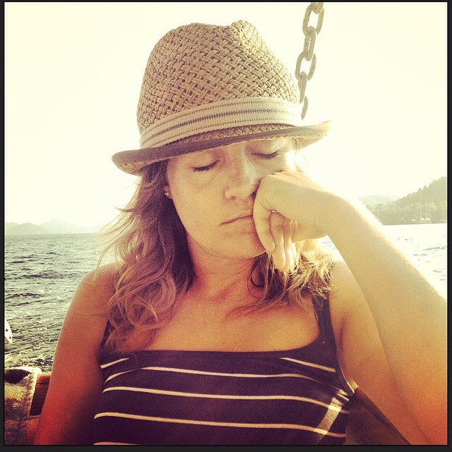Hubby took this of me when we were on a boat trip in Turkey. It's basically all I have done today and I'm feeling much better. Sleep does us wonders doesn't it? #sleep #poorly #better #family #brighter