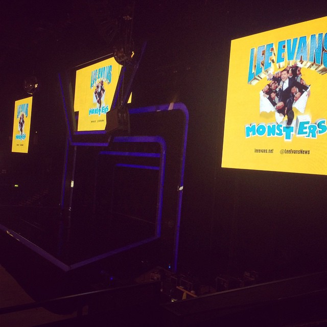 Totally awesome seats #leeevans #lasttour #lastnight