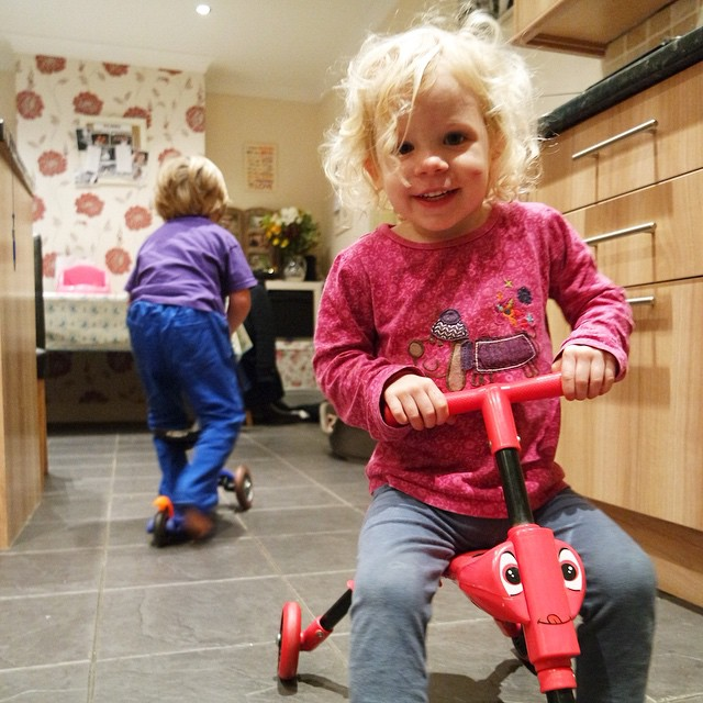 Bedtime = scooter time! #obviously #toddlers #scooters #fun #active #crazy #family #happy
