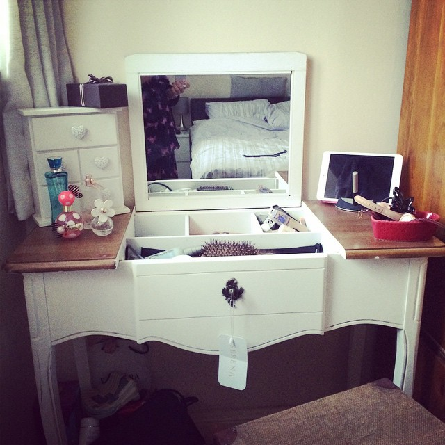 Gave my new dressing table a road test this morning. I am in love. #alwayswantedadressingtable