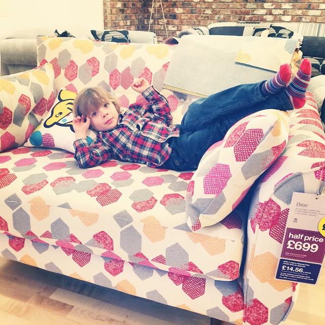 My handsome boy... #sofa #shopping #toddler
