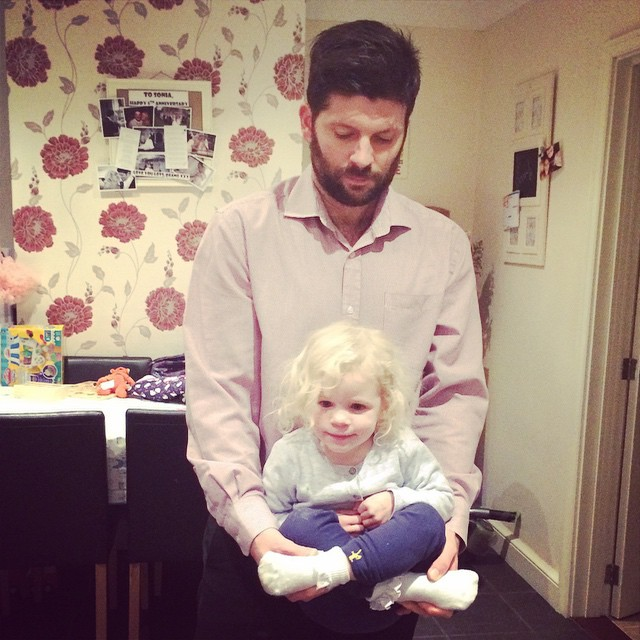 Daddy was swinging Isla around last night and she looked like a teeny Buddha! #toddler #fun #family