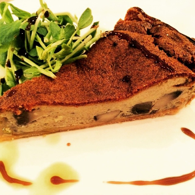Starter: mushroom and Stilton tart. Very yummy. #theeltisley #christmaslunch