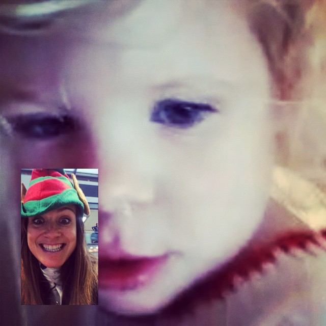 #FaceTime with my beauty... Poorly baby girl at home with Daddy! I bet she loves having him all to herself @deanconstant xx