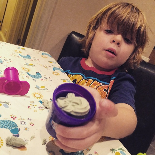 Ooh new filters in Instagram hehe ? #playdoh #toddlers #fun #playtime
