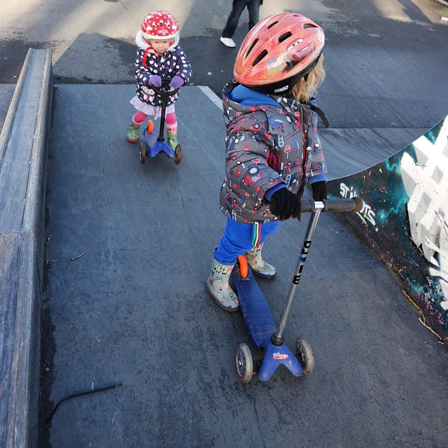 Skater dudes! #scooter #fun #skatepark #tots #happy #outdoorfun
