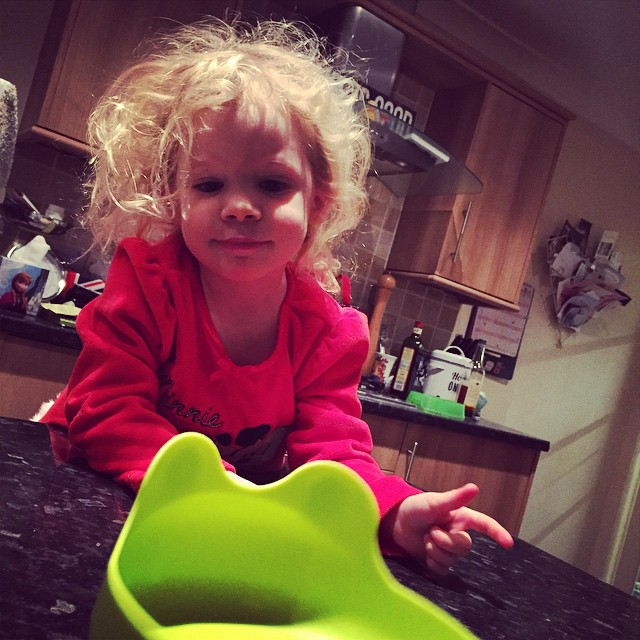 I #love her wacky morning #hair ? I do wish I could get away with hair like this #toddler #blonde #curls