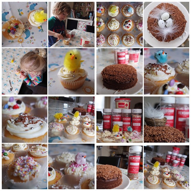 We had a busy weekend baking Easter treats with #Renshaw #quick #easy #baking #cakes #decorations ?