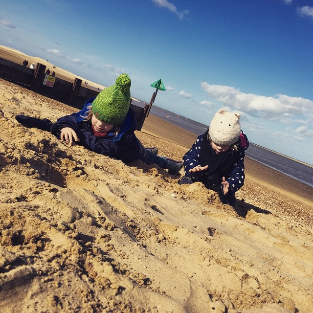 Perfect beach weather... #adventure #beach #wellsnextthesea #norfolk #fun #outdoorfun #toddler #children #happy ?