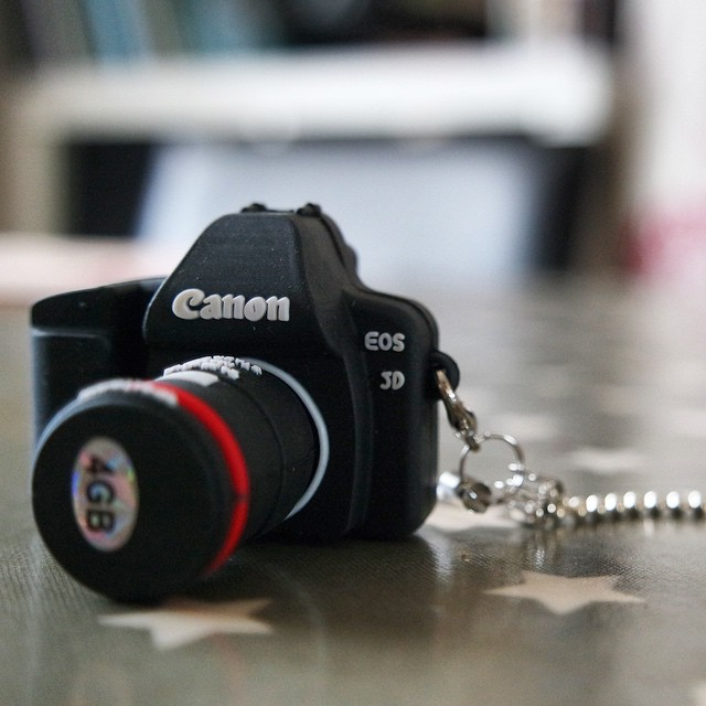 An awesome little #USB stick arrived through the post today! Made my day. Such a cool little idea... #gadget #canon #camera #usbstick #fun