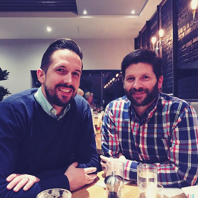 The other beauts to our party last night @deanconstant and @nathanrook! Good night. #handsome #hubbys #men #phroar