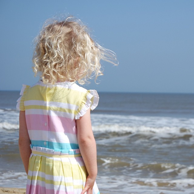 My beaut pondering over the waves... #thoughtful #magic #curlylocks #beautifulgirl #love #daughter #happy