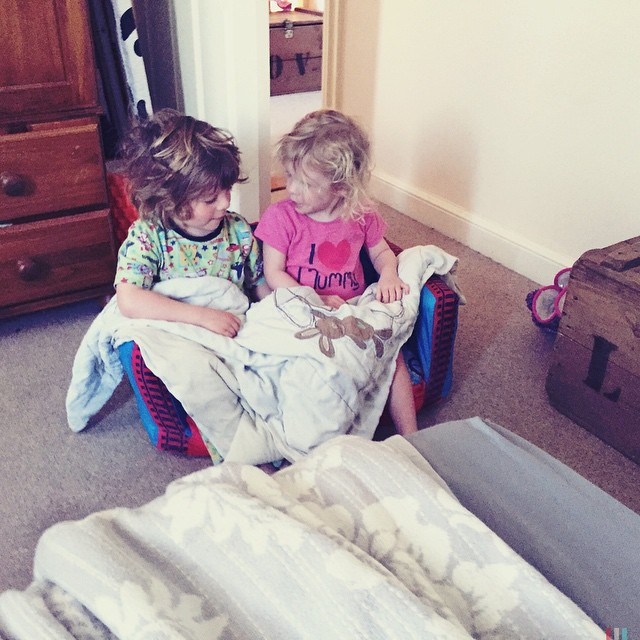 I love seeing them do little things together. Playing and giggling and being happy. They are cute when they want to be. #love #family #happy #siblings