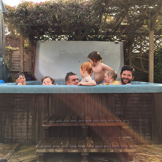 The perfect way to spend a Saturday afternoon... #friends #hottubs #bbq #chilled #sunny #warm