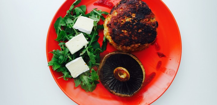 A Christmas style turkey burger with a summer twist