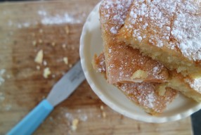 My lemon drizzle squares recipe