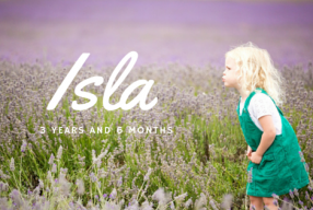 Isla – 3 years and 6 months