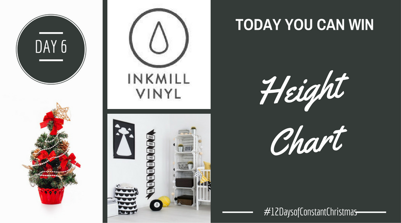 1c9f04142 Day 6 - Win custom vinyl height chart #12DaysofConstantChristmas ...